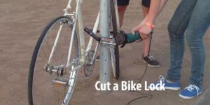 how to cut a bike lock