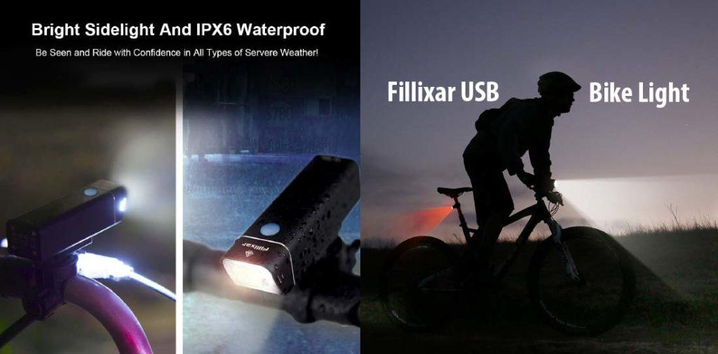 Reason to Choose Fillixar USB Rechargeable Bike Light